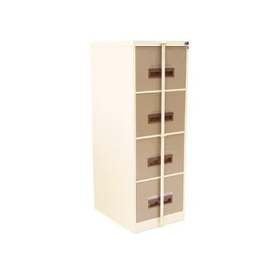 4 Drawer Filing Cabinet With Security Bar Metal Fc50ik