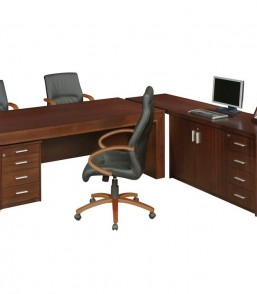 Balsa Executive Desk with Pedenza (Ext Top) & Mobile Pedestal BLSD2100