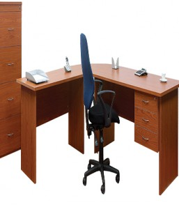 Focus25 Admin Desk with Extension with 2Drw Fitted Ped