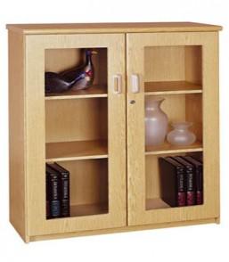 Formline 3 Tier Hinged Glass Door Bookcase