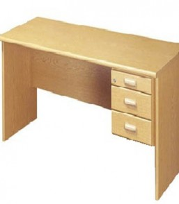Formline 1600×750 Desk Shell with 3 Drw Fitted Pedestal