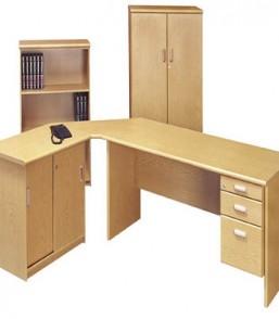 Formline 1600×750 Desk, 3drw, Link, Sliding Door Credenza