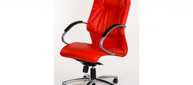 Lumbar HB Red Chrome Leather