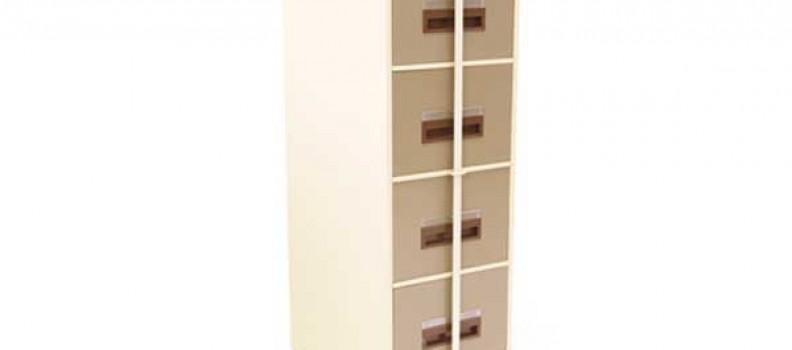 Metal 4Drw Filing Cabinet Security Bar